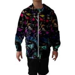 Background Drawing Colorful Pattern Kids  Hooded Windbreaker