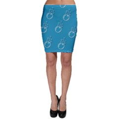 Bubble Group Pattern Abstract Bodycon Skirt