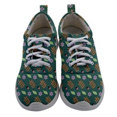Nature Pattern Spring Green Women Athletic Shoes by Vaneshart