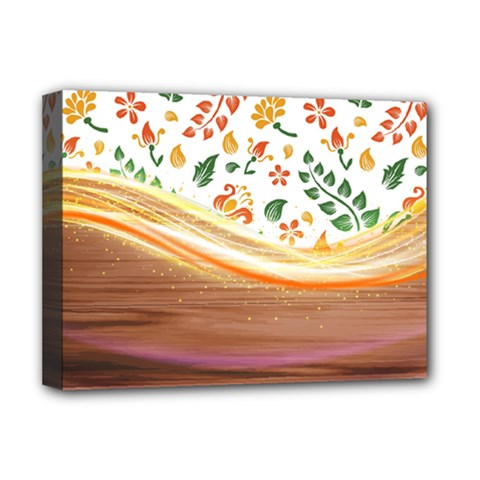 Floral Background Abstract Pattern Deluxe Canvas 16  X 12  (stretched)