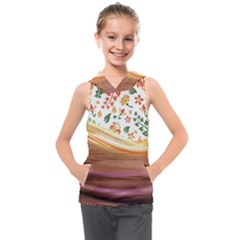 Floral Background Abstract Pattern Kids  Sleeveless Hoodie by Vaneshart