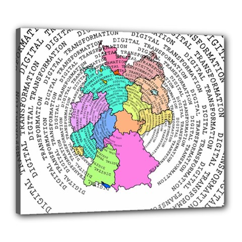 Digitization Transformation Germany Canvas 24  X 20  (stretched)