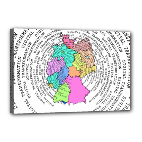 Digitization Transformation Germany Canvas 18  X 12  (stretched)