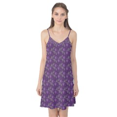 Flowers Violet Decorative Pattern Camis Nightgown
