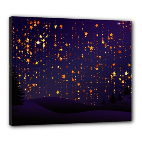 Christmas Background Star Canvas 24  X 20  (stretched)