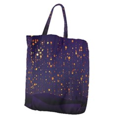 Christmas Background Star Giant Grocery Tote