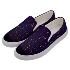 Christmas Background Star Men s Canvas Slip Ons by Vaneshart