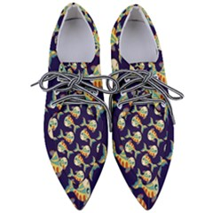 Fish Background Abstract Animal Women s Pointed Oxford Shoes