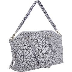 Triangle Poly Low Poly Background Canvas Crossbody Bag