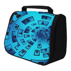 Social Media Smartphone Monitor Full Print Travel Pouch (small)