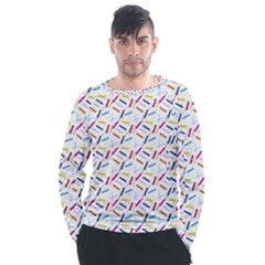 Sprinkles Flat Design Patter Food Men s Long Sleeve Raglan Tee