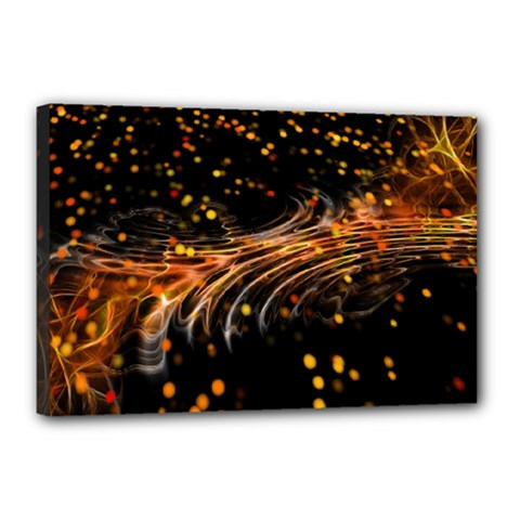 Abstract Background Particles Wave Canvas 18  X 12  (stretched)