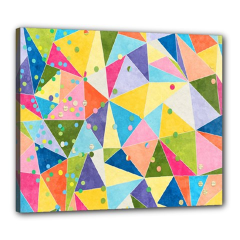 Abstract Background Colorful Canvas 24  X 20  (stretched)