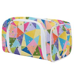 Abstract Background Colorful Toiletries Pouch by Vaneshart