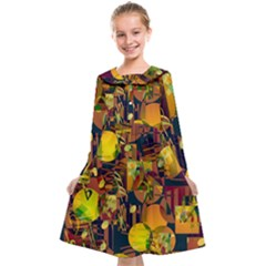 Background Abstract Texture Pattern Kids  Midi Sailor Dress