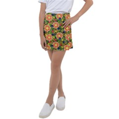 Fruit Star Blueberry Cherry Leaf Kids  Tennis Skirt by Vaneshart