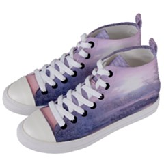 Nature Landscape Winter Women s Mid-top Canvas Sneakers by Vaneshart