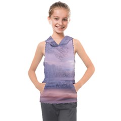 Nature Landscape Winter Kids  Sleeveless Hoodie by Vaneshart