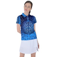 Brain Web Network Spiral Think Women s Polo Tee