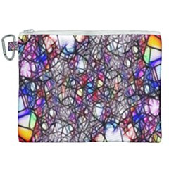 Web Network Abstract Connection Canvas Cosmetic Bag (xxl)