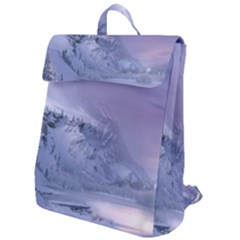 Nature Landscape Winter Snow Flap Top Backpack