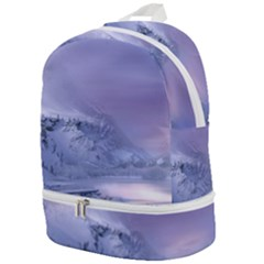 Nature Landscape Winter Snow Zip Bottom Backpack