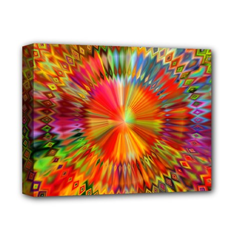 Kaleidoscope Mandala Color Deluxe Canvas 14  X 11  (stretched) by Vaneshart