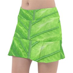 Green Bright Digital Manipulation Tennis Skorts