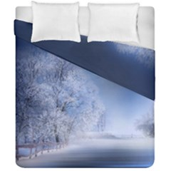 Nature Landscape Winter Duvet Cover Double Side (california King Size) by Vaneshart