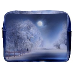 Nature Landscape Winter Make Up Pouch (large)