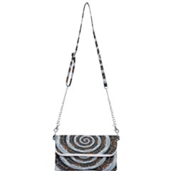 Spiral City Urbanization Cityscape Mini Crossbody Handbag