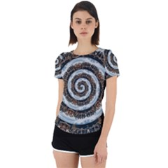 Spiral City Urbanization Cityscape Back Cut Out Sport Tee by Vaneshart