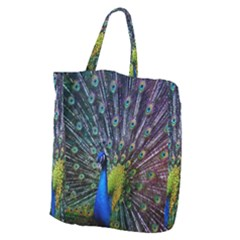 Peacock Colors Bird Colorful Giant Grocery Tote