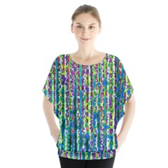 Matrix Technology Data Digital Batwing Chiffon Blouse