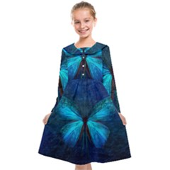 Animal Butterfly Insect Kids  Midi Sailor Dress