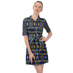 Abstract S 1 Belted Shirt Dress