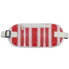 Tarija 016 Red And White Rounded Waist Pouch