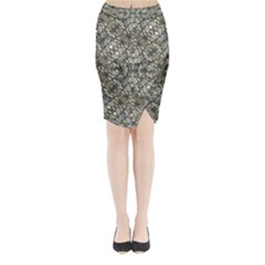 Urban Art Textured Print Pattern Midi Wrap Pencil Skirt by dflcprintsclothing
