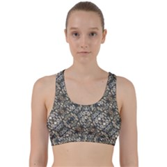 Urban Art Textured Print Pattern Back Weave Sports Bra by dflcprintsclothing