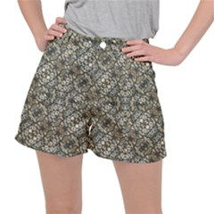 Urban Art Textured Print Pattern Ripstop Shorts by dflcprintsclothing