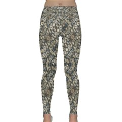 Urban Art Textured Print Pattern Lightweight Velour Classic Yoga Leggings by dflcprintsclothing