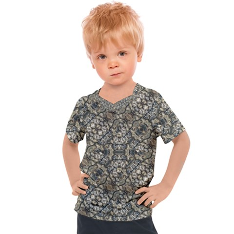 Urban Art Textured Print Pattern Kids  Sports Tee by dflcprintsclothing