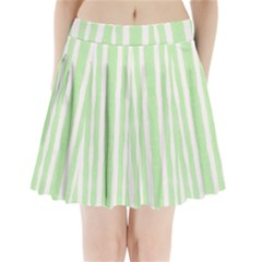 Tarija 016 White Light Green Pleated Mini Skirt