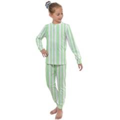 Tarija 016 White Light Green Kids  Long Sleeve Set