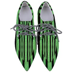 Tarija 016 Black Light Green Women s Pointed Oxford Shoes