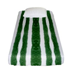 Tarija 016 White Green Fitted Sheet (single Size)