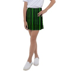Tarija 016 Black Green Kids  Tennis Skirt