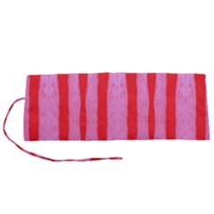 Tarija 016 Red Pink Roll Up Canvas Pencil Holder (s)