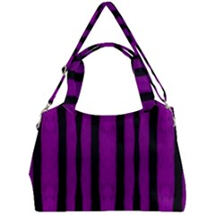 Tarija 016 Purple Black Double Compartment Shoulder Bag by Tarijapinkpurple