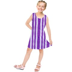 Tarija 016 White Purple Kids  Tunic Dress
